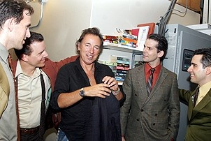 Photo Op - Bruce Springsteen at Jersey Boys - Daniel Reichard - Christian Hoff - Bruce Springsteen - J. Robert Spencer - John Lloyd Young