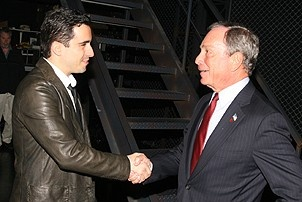 Photo Op - Mayor Bloomberg at Jersey Boys - John Lloyd Young - Michael Bloomberg - 1