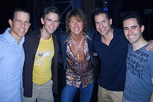 Photo Op - Richie Sambora at Jersey Boys - Christian Hoff - Daniel Reichard - Richie Sambora - John Leone - John Lloyd Young