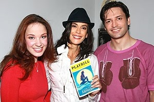 Photo Op - Teri Hatcher at The Little Mermaid - Sierra Boggess - Teri Hatcher - Sean Palmer