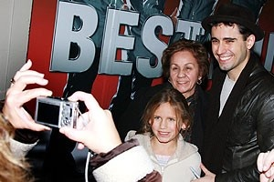 Photo Op - John Lloyd Young Leaves Jersey Boys -  John Lloyd Young (with photo-taking fans)