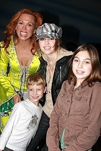 Photo Op - Miley Cyrus at Mamma Mia! - Carolee Cramello - Miley Cyrus - Carmello&#39;s son and daughter