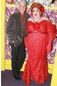 Ted Danson Visits Hairspray - Ted Danson - George Wendt