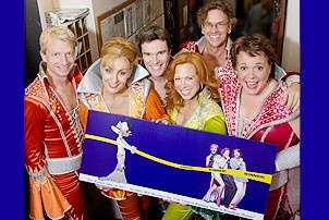 Mamma Mia 17th Longest-Running Show - Ben Livingston - Judy McLane - Christopher Shyer - Carolee Carmello - Pearce Bunting - Gina Ferrall