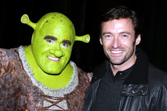 Steven Spielberg and Hugh Jackman Go Green at Shrek the Musical – Hugh Jackman – Brian d'Arcy James