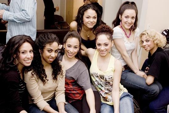 West Side Story at Regis and Kelly - Kat Nejat - Mileyka Mateo - Yanira Marin - Karen Olivo - Tanairi Sade Vazquez - Jennifer Sanchez - Danielle Polanco