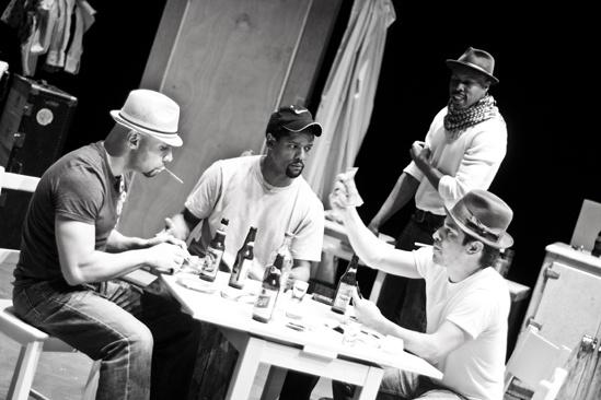 Streetcar Named Desire rehearsal – Jacino Taras Riddick – Blair Underwood – Wood Harris – Matthew Saldivar