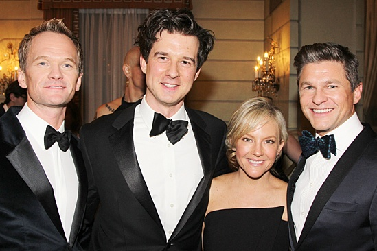 Drama League gala for NPH - 2014 - Neil Patrick Harris - Christian Hebel - Rachael Harris - David Burtka