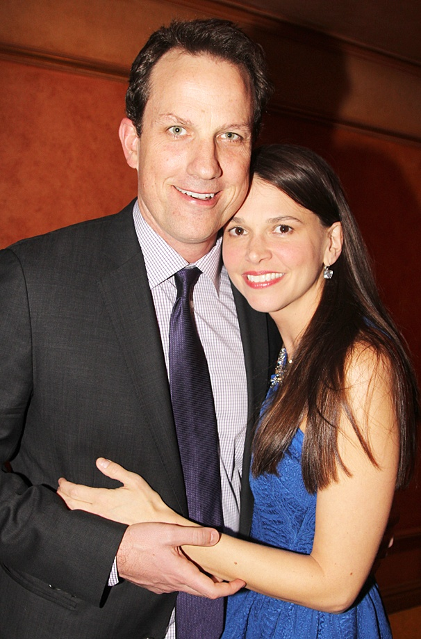 Sutton Foster with intelligent, Husband Ted Griffin