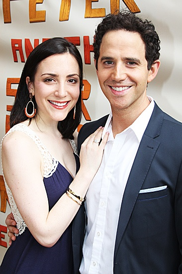 Peter and the Starcatcher Opening Night  Jessica Hershberg  Santino Fontana
