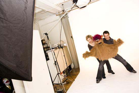 Avenue Q Final Cast Photo Shoot - Jennifer barnhart - Christian Anderson