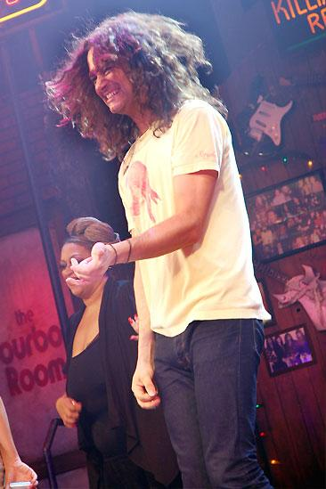 Rock of Ages Air Guitar Contest - Constantine Maroulis (rockin out)