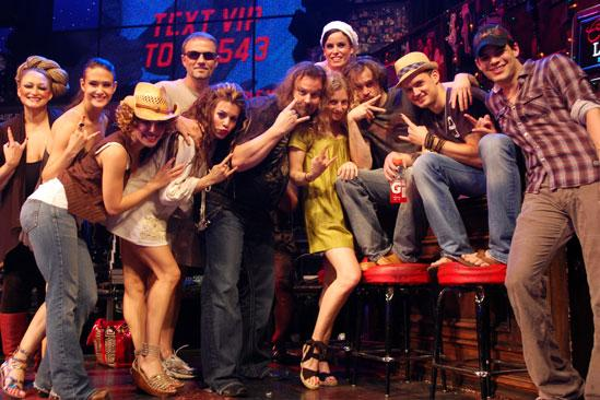 Rock of Ages Air Guitar Contest - cast