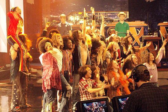 Hair in LA - cast singing