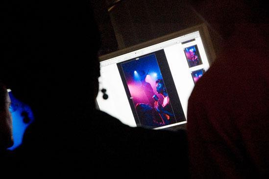 Memphis Promo Shoot - Montego Glover (looking at photos)