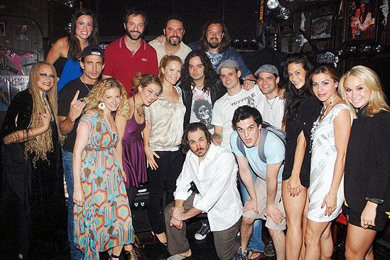 Judd Apatow and Leslie Mann at Rock of Ages - full shot