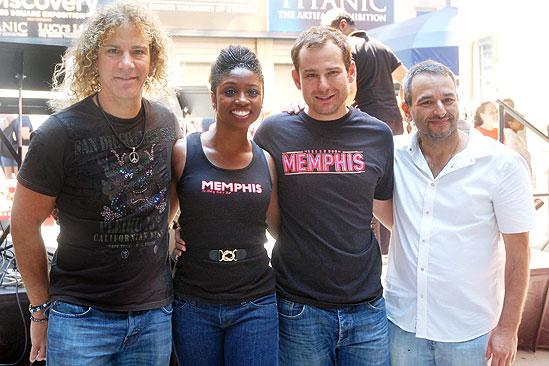 Memphis BBQ Meet and Greet - David Bryan - Joe DiPietro - Montego Glover - Chad Kimball
