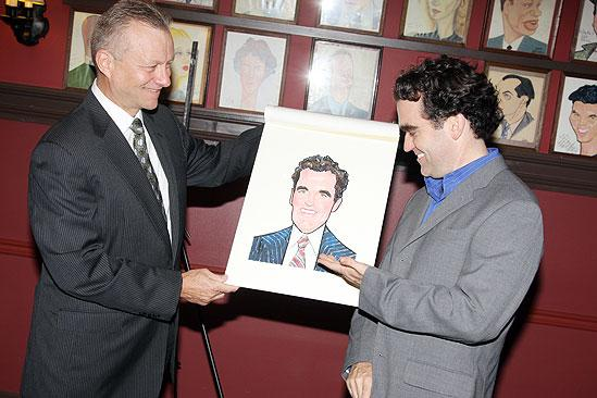 Brian d'Arcy James at Sardi's - Max Klimavicius – Brian d'Arcy James