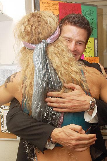 David Boreanaz at Rock of Ages – David Boreanaz – James Carpinello (hugging)