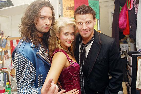 David Boreanaz at Rock of Ages – David Boreanaz – Constantine Maroulis – Ericka Hunter