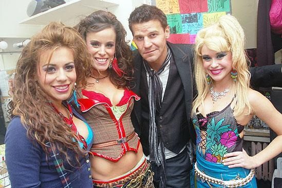 David Boreanaz at Rock of Ages  David Boreanaz  Angel Reed  Katherine Tokarz  Becca Tobin