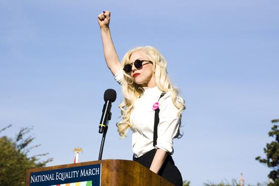 Lady Gaga Heads to Maine to Rally Against Dont Ask,