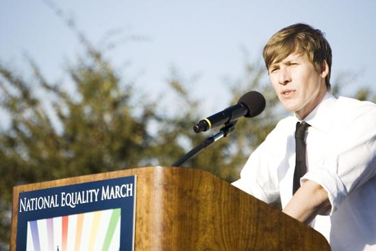 Hair at the National Equality March - Dustin Lance Black