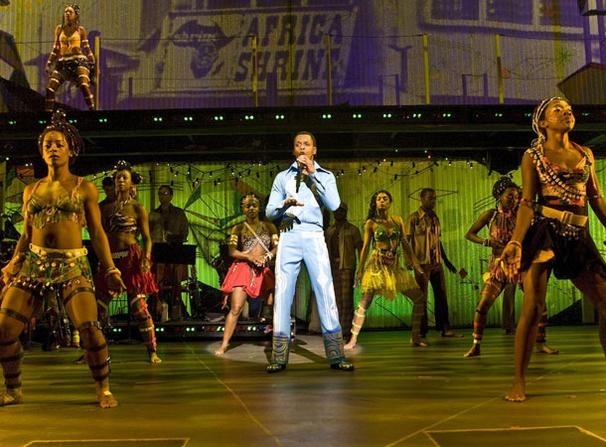 Fela - Show Photos - Kevin Mambo (center)