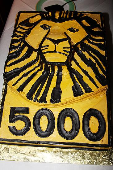The Lion King Celebrates 5000 perfs  cake