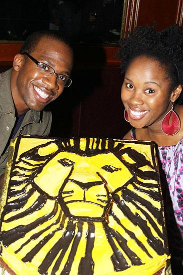 The Lion King Celebrates 5000 perfs  Dashaun Young - TaRea Campbell 