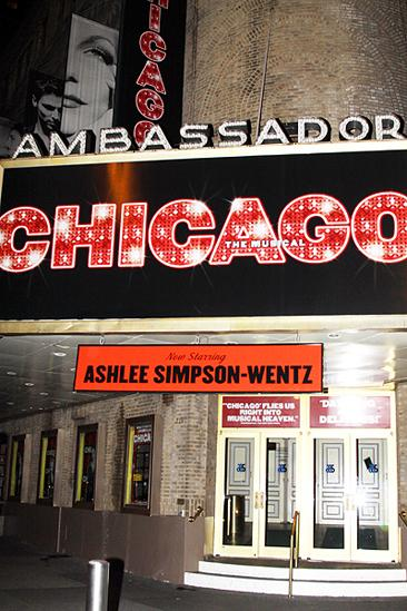 Ashlee Simpson Chicago opening  marquee