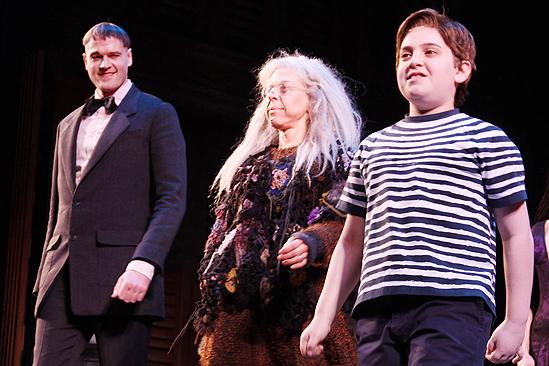 Addams Family Chicago opening  cc  Zachary James  Jackie Hoffman  Adam Riegler