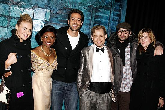 Zachary Levi at Memphis - Caitlin Crosby - Montego Glover - Zachary Levi - Chad Kimball - Justin Theroux - girlfriend