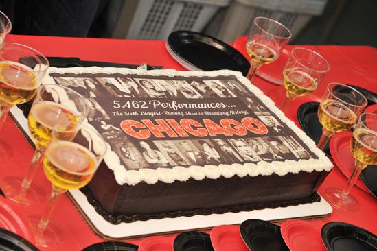 Chicago Sixth Longest Running Show  cake