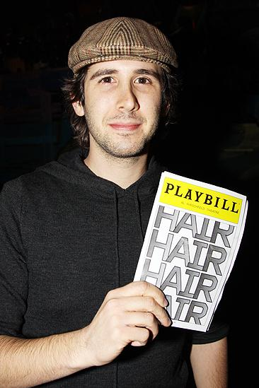 Josh Groban at Hair  Josh Groban