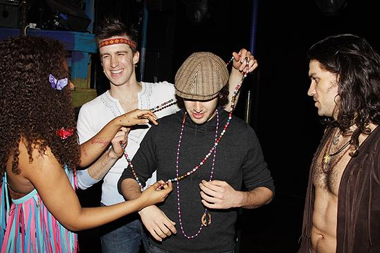 Josh Groban at Hair – Sasha Allen – Gain Creel - Josh Groban – Will Swenson (beads)