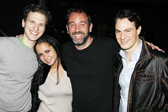 Trey Parker at Jersey Boys – Sebastian Arcelus – Trey Parker – girlfriend Boogie Tillmon – Matt Bogart