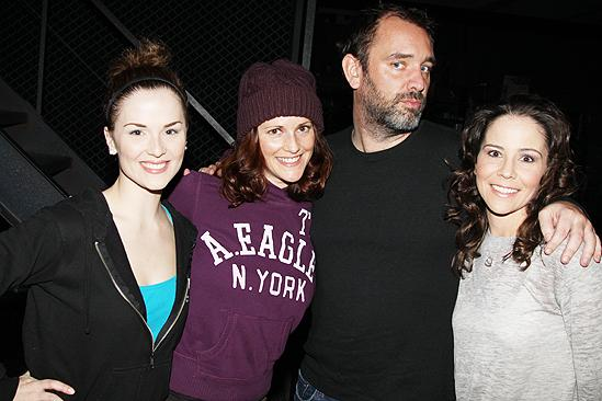 Trey Parker at Jersey Boys  Katie OToole  Bridget Berger  Sara Schmidt
