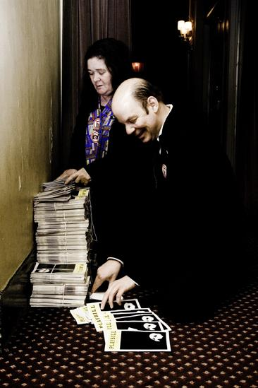 Day in the Life of Phantom of the Opera  stuffing playbills