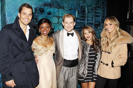 Giuliana &amp; Bill and Adrienne Bailon at Memphis  Bill Rancic  Montego Glover  Chad Kimball  Adrienne Bailon  Giuliana Rancic