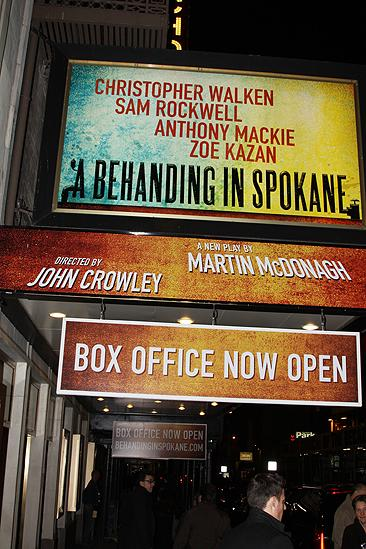 Behanding in Spokane Opening Night – marquee