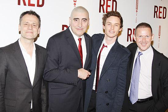 Red opening  Michael Grandage  Alfred Molina  Eddie Redmayne  John Logan