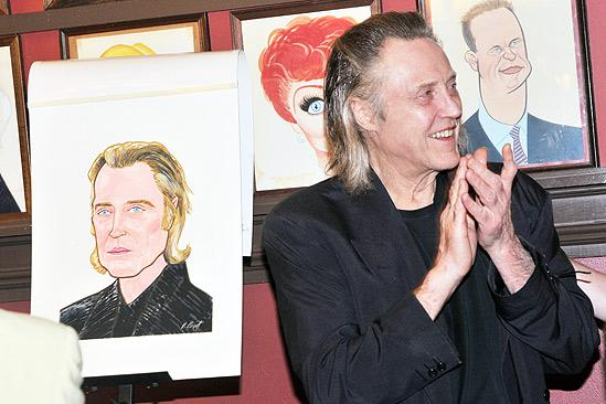 Christopher Walken at Sardi's – Christopher Walken – clapping at portrait