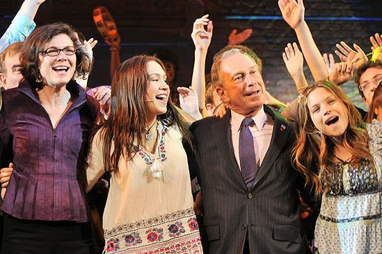 Mayor Bloomberg at Hair – Diana Taylor – Diana DeGarmo – Michael Bloomberg – Vanessa Ray