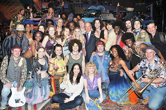 Mayor Bloomberg at Hair – group shot