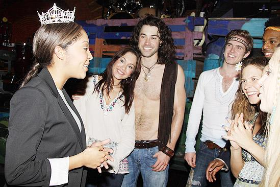 Miss America at Hair – Caressa Cameron – Diana DeGarmo – Ace Young – Kyle Riabko