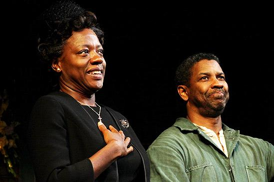 Fences Opening Night – Viola Davis – Denzel Washington (curtain call)