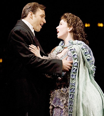 The Phantom of the Opera - Show Photo - Ryan Silverman - Jennifer Hope Wills - singing