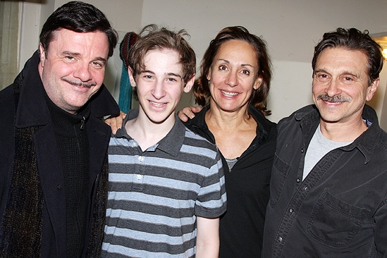 Laurie Metcalf and family