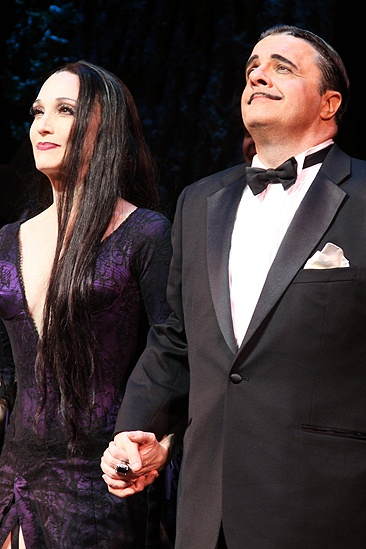 Addams Family Chicago opening – cc – Bebe Neuwirth – Nathan Lane